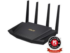 ASUS RT-AX3000 Dual Band WiFi Router, WiFi 6, 802.11ax, Lifetime Internet Security, support AiMesh Whole-home WiFi, 4 x 1Gb LAN ports, USB 3.0, MU-MIMO, OFDMA, VPN
