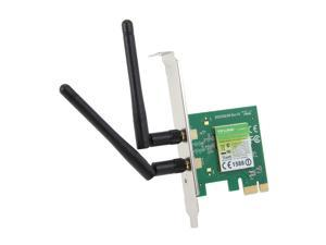 TP-LINK TL-WN881ND Wireless N300 PCI Express Adapter, 300 Mbps, w/ WPS Button, IEEE 802.1b/g/n, 64 / 128-bit WEP, WPA / WPA2, Plug & Play in Windows