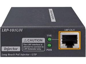 PLANET LRP-101UH 1-Port 10/100 TX PoE PD + 1-Port UTP Long Reach PoE Injector