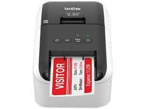 "Brother QL-800 2.4"" High-speed, Professional Direct Thermal Label Printer, USB, Auto Cutter - White/Black"