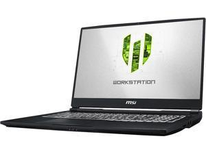 "MSI WE Series WE75 8TJ-010 Mobile Workstation Intel Core i7 8th Gen 8850H (2.60 GHz) 32 GB Memory 512 GB NVMe SSD NVIDIA Quadro T2000 17.3"" Windows 10 Pro 64-bit"