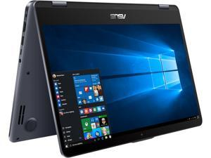 "ASUS VivoBook Flip 14 TP410UA-DS71T 14"" Thin and Lightweight 2-in-1 FHD Touchscreen Laptop, Intel Core i7-8550U 1.8 GHz Processor, 8 GB DDR4 RAM, 1 TB 5400 RPM SSHD, Windows 10 Home, Stylus Included"