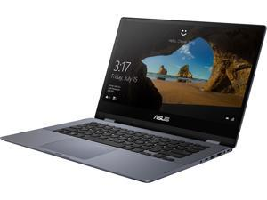 "ASUS VivoBook Flip TP412UA-DB71T Intel Core i7 8th Gen 8550U (1.80 GHz) 8 GB Memory 256 GB SSD Intel UHD Graphics 620 14"" Touchscreen 1920 x 1080 Convertible 2-in-1 Laptop Windows 10 Home 64-Bit"