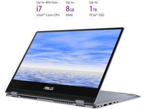 "ASUS VivoBook Flip TP412UA-DB51T Intel Core i5 8th Gen 8250U (1.60 GHz) 8 GB Memory 256 GB SSD Intel UHD Graphics 620 14"" Touchscreen 1920 x 1080 Convertible 2-in-1 Laptop Windows 10 Home 64-Bit"