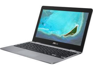 "ASUS Chromebook 11.6"" HD Display, Intel Dual-Core Celeron N3350 Processor (up to 2.4 GHz) 4 GB RAM, 32 GB eMMC Storage, Grey C223NA-DH02-GR"