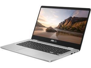 "ASUS Chromebook C523NA-DH02 15.6"" HD NanoEdge Display with 180 Degree Hinge Intel Dual Core Celeron Processor, 4 GB RAM, 32 GB eMMC, Silver Color"