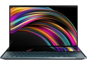 "ASUS ZenBook Pro Duo UX581 15.6"" 4K UHD NanoEdge Bezel Touch, Intel Core i9-9980HK, 32 GB RAM, 1 TB PCIe SSD, GeForce RTX 2060, Innovative ScreenPad Plus, Windows 10 Pro - UX581GV-XB94T, Celestial Blu"