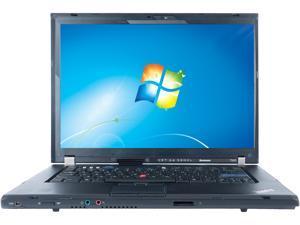 "Lenovo Laptop ThinkPad T500 Intel Core 2 Duo P8400 (2.26 GHz) 4 GB Memory 160 GB HDD Integrated Graphics 15.4"" Windows 7 Professional 64-Bit"
