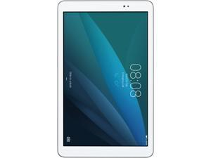 "Huawei MediaPad T1 10.0 Quad Core 9.6"" Android (KitKat) + EMUI Tablet 1 GB Memory 8 GB Flash, Silver/White (US Warranty)"