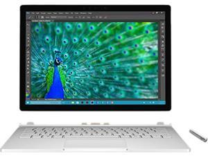 "Microsoft Surface Book SV7-00009 Ultrabook Intel Core i5 6300U (2.40 GHz) 8 GB Memory 128 GB SSD Intel HD Graphics 520 13.5"" 3000 x 2000 Touchscreen 5 MP Front / 8 MP Rear Camera Windows 10 Pro 64-Bit"
