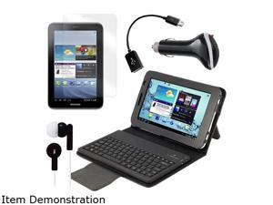 Mgear Bluetooth Keyboard Folio with Earphones, Screen Protector, OTG Cable, and More for Samsung Galaxy Ta Model GALAXY-TAB-2-7-BT-COMBO-4-BNDL