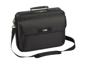 """Targus Two-Tone Black Checkpoint-Friendly 16"""" Traditional Laptop Case Model TBC023US"""
