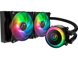Cooler Master MasterLiquid ML240R Phatom Gaming Edition Addressable RGB AIO CPU Liquid Cooler, 28 Independently-Controlled LEDS, Robust Sleeved FEP Tubing, Dual 120mm ARGB Air Balance MF