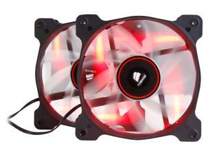 Corsair Air Series AF120 LED 120mm Quiet Edition High Airflow Fan Twin Pack - Red (CO-9050016-RLED)