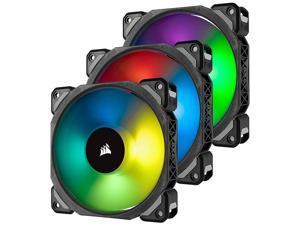 CORSAIR ML120 PRO RGB, 120mm Premium Magnetic Levitation RGB LED PWM Fan, CO-9050076-WW. 3-Pack with Lighting Node PRO.