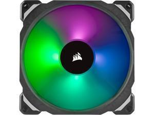 CORSAIR ML140 PRO RGB, 140mm Premium Magnetic Levitation RGB LED PWM Fan, CO-9050078-WW. 2-Pack with Lighting Node PRO.