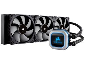 Corsair Hydro Series, H150i PRO RGB, 360mm. 3 X 120mm ML PWM Fans, Advanced RGB Lighting & Fan Control w/ Software. Liquid CPU Cooler. CW-9060031-WW. Support: Intel 2066, AMD AM4.