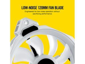 Corsair LL Series CO-9050092-WW LL120 RGB, 120mm Dual Light Loop RGB LED PWM Fan, 3 Fan Pack with Lighting Node PRO, White.