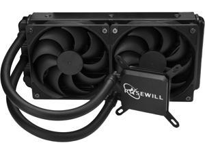 Rosewill CPU Liquid Cooler, Closed Loop PC Water Cooling, Quiet 240mm PWM Fans. Intel LGA 2011/2066/1366/1150/1151/1155/1156/775, AMD AM4/AM3+/AM3/AM2+/AM2/AM1/FM2+/FM1 - PB240