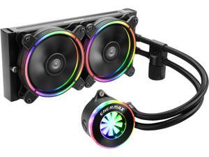 Enermax Liqfusion ELC-LF240-RGB RGB 240mm AIO Liquid CPU Cooler with Patented Flow Indicator Design, Intel/ AMD (ELC-LF240-RGB)