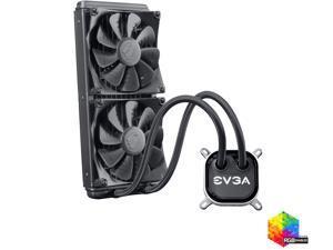 EVGA CLC 280mm All-In-One RGB LED CPU Liquid Cooler, 2x FX13 140mm PWM Fans, Intel, AMD, 400-HY-CL28-V1