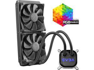 EVGA CLC 280mm All-In-One RGB LED CPU Liquid Cooler, 2x FX13 140mm PWM Fans, Intel, AMD, 400-HY-CL28-V1