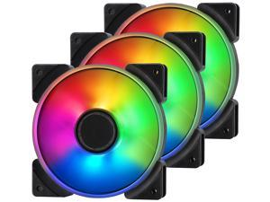 Fractal Design Prisma AL-12 120mm Addressable RGB LED Long Life Sleeve Bearing Computer Case Fan 3-Pack