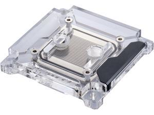 Phanteks Glacier C360i CPU Water Block for Intel 2011-3 and 115x, Acrylic Cover, Digital-RGB LED lighting, Chrome and Bla