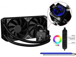 DEEPCOOL Gamer Storm CAPTAIN 240EX RGB-AIO CPU Liquid Cooler 240mm RGB Waterblock And LED Strip AURA SYNC Ceramic Bearing Pump Visual Liquid Flow Metal Mounting Kit AM4 Compatible
