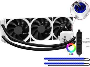 DEEPCOOL Gamer Storm CAPTAIN 360EX RGB WHITE-AIO CPU Liquid Cooler 360mm RGB Waterblock And LED Strip AURA SYNC Ceramic Bearing Pump Visual Liquid Flow Metal Mounting Kit Support LGA2066/AM4