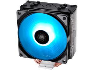 DEEPCOOL GAMMAXX GTE-CPU Cooler 120mm RGB fan Motherboard SYNC Solid 0.4-mm fins 4 Heatpipes Metal Mounting Kit Support LGA 2066 / AM4