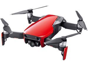 DJI MAVIC AIR Fly More Combo (NA) Portable Collapsible Quadcopter Drone, 3-Axis Gimbal with 4K, 32 MP Camera - Flame Red
