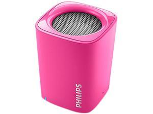 Philips BT100P/37 Anticlipping Bluetooth Portable Speaker (Pink)