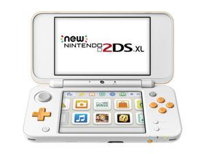 Nintendo New 2DS XL Game Console - White + Orange