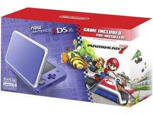 Nintendo New 2DS XL - Purple + Silver with Mario Kart 7 Pre-installed