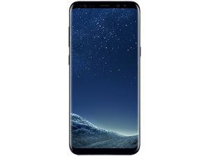"Samsung Galaxy S8+ G955U 4G LTE Unlocked GSM U.S. Version Phone - w/ 12 MP Camera 6.2"" Midnight Black 64GB 4GB RAM - Grade B"