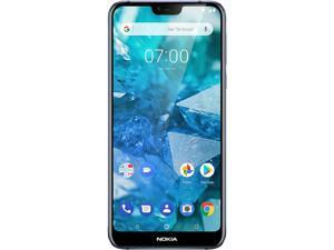 "Nokia 7.1 4G LTE Unlocked Cell Phone 5.84"" Blue 64GB 4GB RAM"