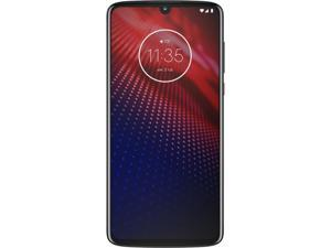 "Motorola Moto Z4 4G LTE Unlocked Cell Phone 6.4"" Flash Gray 128GB 4GB RAM"