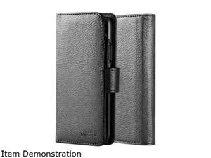 Insten Black Premium Durable Synthetic Leather Folio Wallet Case w/ ID Credit Card ...