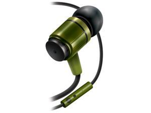 GOgroove AudiOHM RNF Army Green Earbud Headphones with Handsfree Microphone , Replaceable In-Ear Gels and Lifetime Warranty -  Works with Apple, Samsung, HTC and More Smartphones