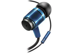 Rugged AudiOHM RNF Blue Ergonomic Earbud Headphones with Lifetime Warranty by GOgroove feat. Handsfree Mic and Military Grade Materials for Body Armor - Works With Apple , Samsung , HTC and More