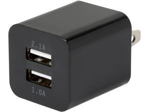 Link Depot LD-AC22A-B Black 2 Port / 2.1 Amp USB Wall Charger