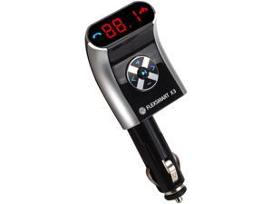 GOgroove FlexSMART X3 Mini Bluetooth FM Transmitter Car Kit w/ Wireless Hands-Free Calling, USB Charging and Audio Playback - Works with Apple iPhone 6s , Samsung S6 Edge, Microsoft Lumia 950 and More