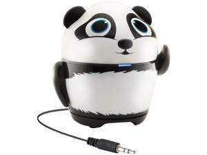 GOgroove Portable Stereo Speaker Music Player with Panda Animal Design & Built-in 3.5 mm Cord - Works with Samsung Galaxy Tab 3 Lite, LeapFrog LeapPad Ultra, Dragon Touch Y88X & More Kids Tablets