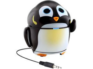 GOgroove Rechargeable Penguin Stereo Speaker with Portable Design & Built-in 3.5mm Cable - Works with Samsung Galaxy Tab 3 Lite, LeapFrog LeapPad Ultra, Dragon Touch Y88X & More Kids Tablets