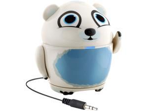 GOgroove Portable Multimedia Speaker with Polar Bear Design, Rechargeable Battery & 3.5 mm Cord - Works Apple iPad Pro, Microsoft Surface Pro 4, Samsung Galaxy Tab S2  & More Tablets