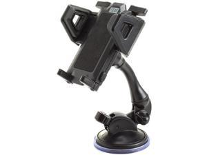 Car Windshield Dashboard Suction Mount Holder with Adjustable Phone Cradle & Strong Suction Lock Clamp by USA GEAR - Will hold Apple iPhone 6s, Samsung Galaxy S7 Edge, LG G5 and More