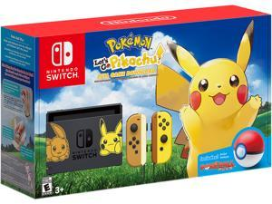 Nintendo Switch Pikachu & Eevee Edition with Pokemon Let's Go, Pikachu! + Poke Ball Plus