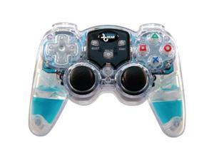 dreamGEAR Lava Glow Wireless Controller Blue for PS2