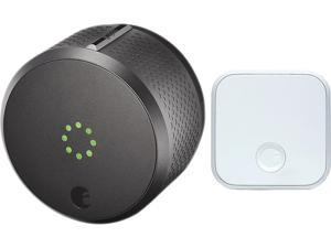 August Smart Lock Pro + Connect, 3rd Gen Technology - Dark Gray, Works with Alexa and Google Assistant